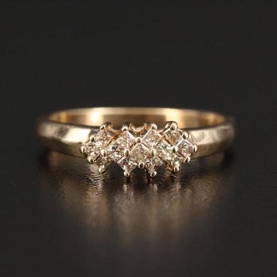 10K Princess Cut Diamond Ring