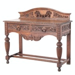 Rococo Revival Carved Oak Sideboard, Early 20th Century