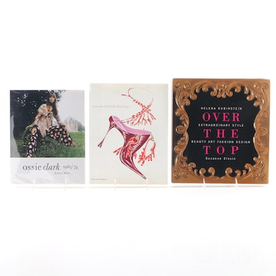 """Signed First Edition """"Over the Top"""" by Suzanne Slesin with Other Fashion Books"""
