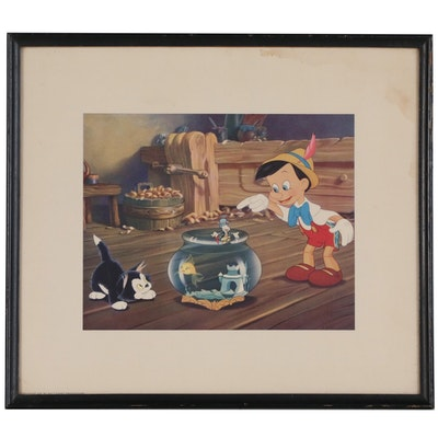 "Offset Lithograph of Still from Disney's ""Pinocchio"""