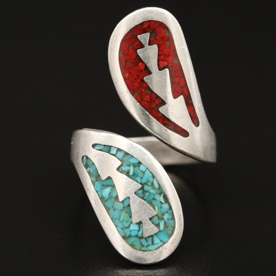 Western Style Sterling Bypass Ring