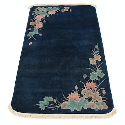 4'0 x 7'1 Hand-Knotted Chinese Art Deco Style Rug, 1930s