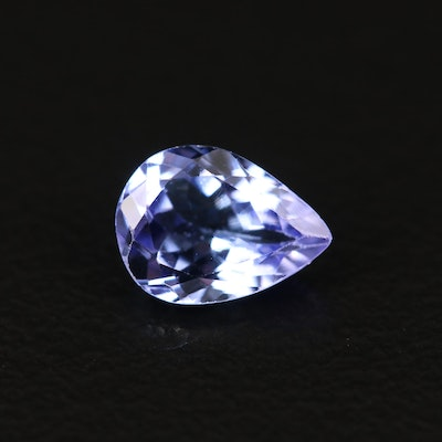 Loose 0.77 CT Pear Faceted Tanzanite
