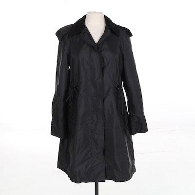 Burberry Raincoat in Black Nylon