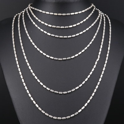 Milor Endless Sterling Silver Bead Chain Necklace