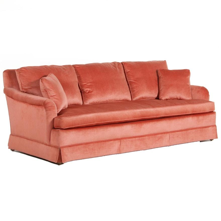 Baker Plush Upholstered Sofa, Late 20th Century