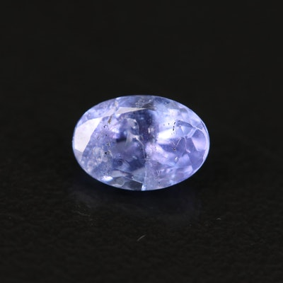 Loose 0.89 CT Oval Faceted Tanzanite