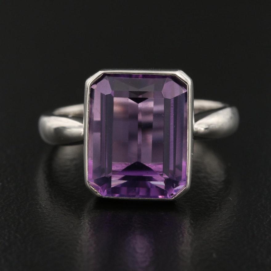 Platinum Amethyst Ring