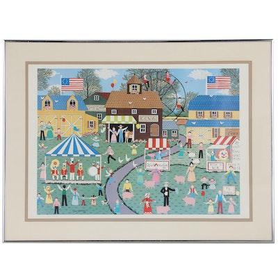 Cate Mandigo Offset Lithograph of County Fair