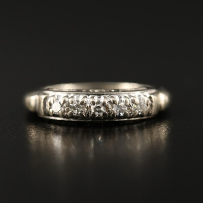 Vintage 14K Diamond Band