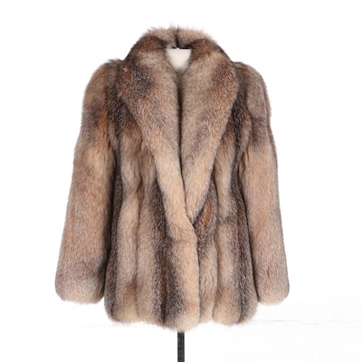 Full-Skin Crystal Fox Fur Jacket