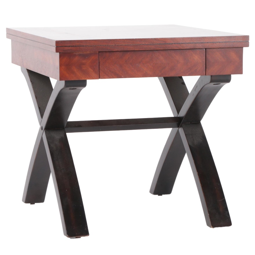 Contemporary Curule Style Side Table