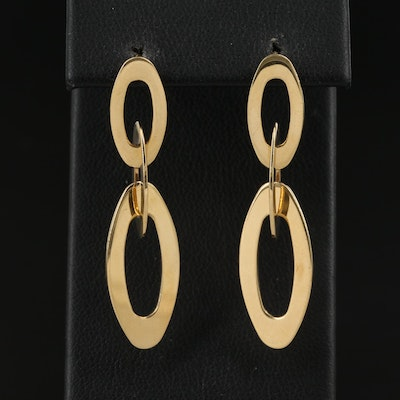 """Roberto Coin """"Chic and Shine"""" 18K Oval Dangle Earrings"""