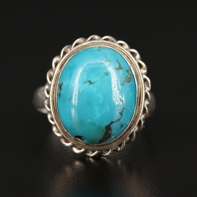 Sterling Silver Turquoise Dome Ring