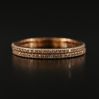 18K Diamond Eternity Bands