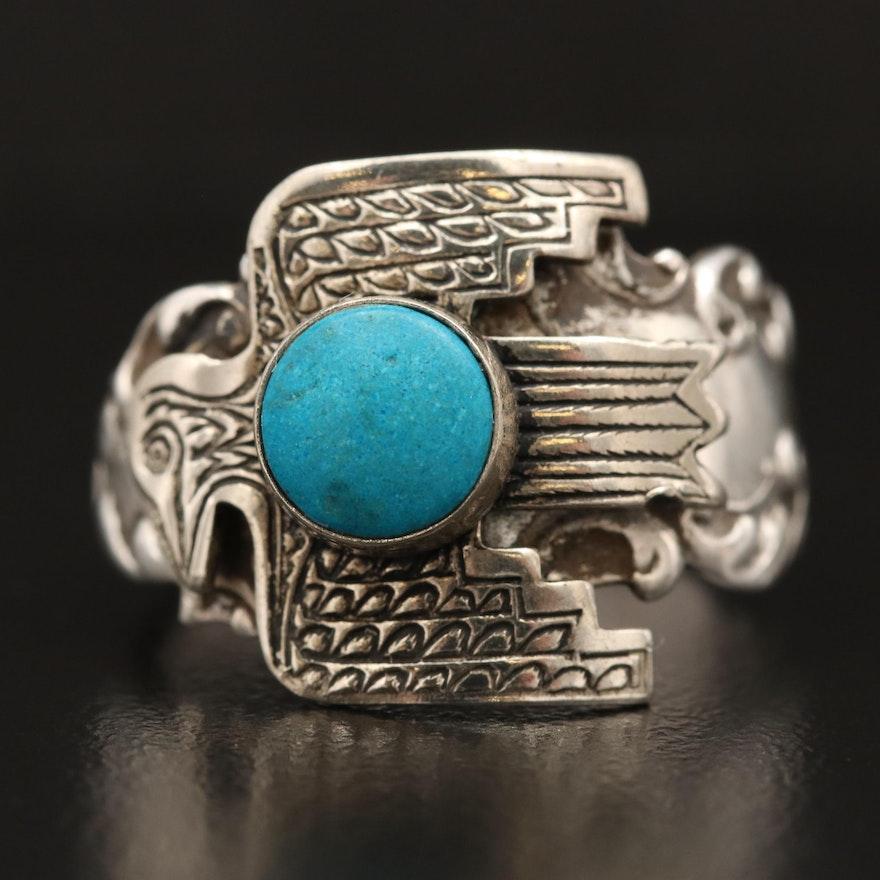 Southwestern Sterling Silver Thunderbird Ring