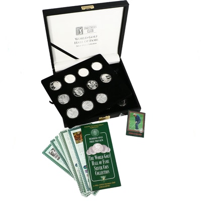 PGA Tour Partner's Club .999 Fine Silver Hall of Fame Golfers Rounds