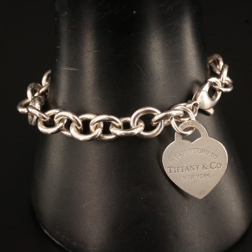 "Tiffany & Co. ""Return to Tiffany"" Sterling Silver Heart Tag Bracelet"