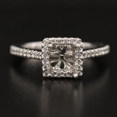 Gabriel & Co.14K Diamond Semi-Mount Ring