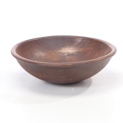 Hand-Carved Large Wooden Serving Bowl