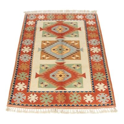 5'3 x 7'7 Hand-Knotted Turkish Caucasian Kazak Rug, 2000s