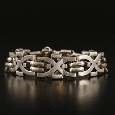 Mexican Reven Sterling Silver Link Bracelet
