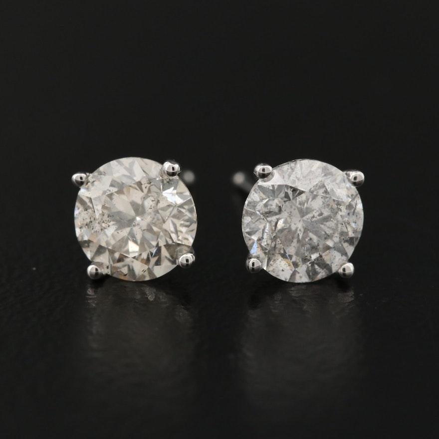 14K Martini Set 2.08 CTW Diamond Stud Earrings