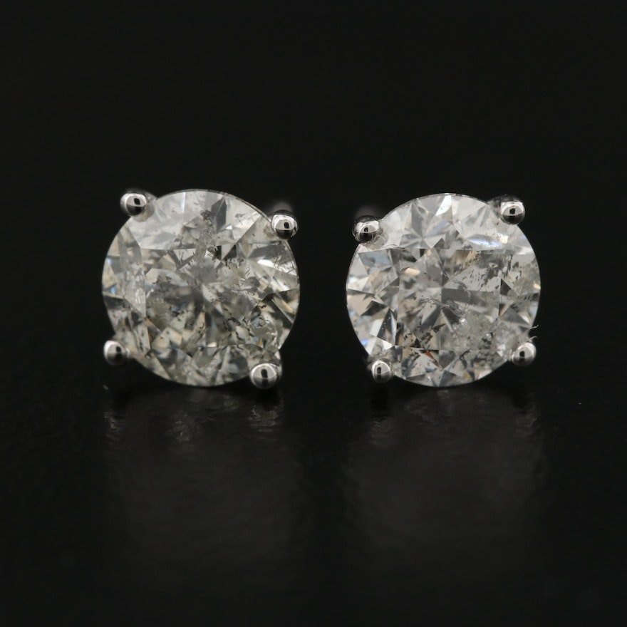 14K 1.89 CTW Diamond Martini Set Stud Earrings