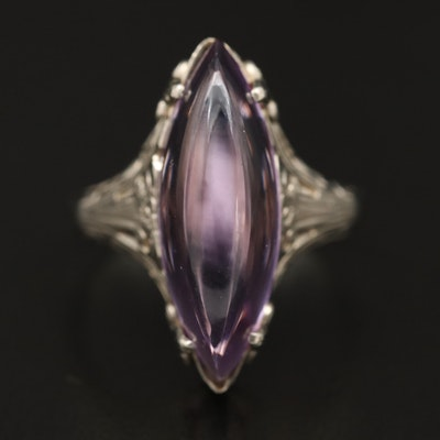 Antique 14K Amethyst Openwork Ring