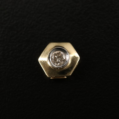 14K Diamond Hexagon Pendant