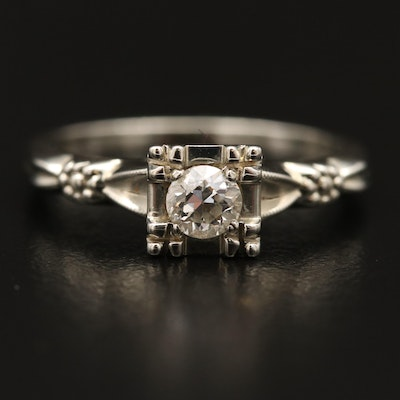 Vintage 18K Diamond Ring
