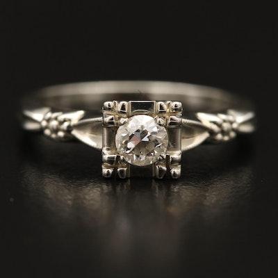 Vintage 18K Diamond Ring