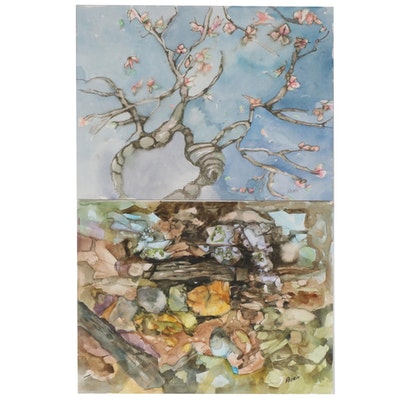 Phiris Kathryn Sickels Abstract Landscape Watercolor Paintings