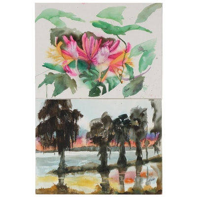 Phiris Kathryn Sickels Floral and Landscape Watercolor Paintings