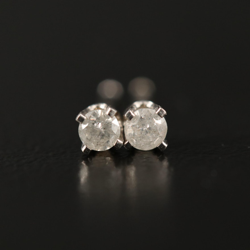 14K 0.12 CTW Diamond Stud Earrings