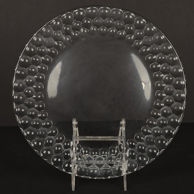 "Tiffany & Co. Crystal ""Honeycomb"" Torte Plate"