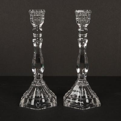 "Pair of Tiffany & Co. ""Hampton"" Crystal Candlesticks"