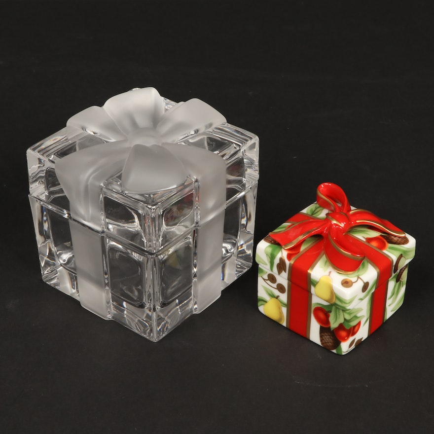 Tiffany & Co. Crystal and Porcelain Gift Boxes
