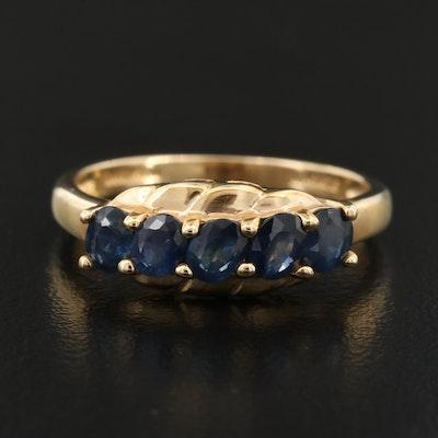 14K Sapphire Five Stone Ring