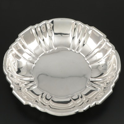 "Poole Silver Company  ""Old English"" Sterling Silver Bowl, Mid to Late 20th C."