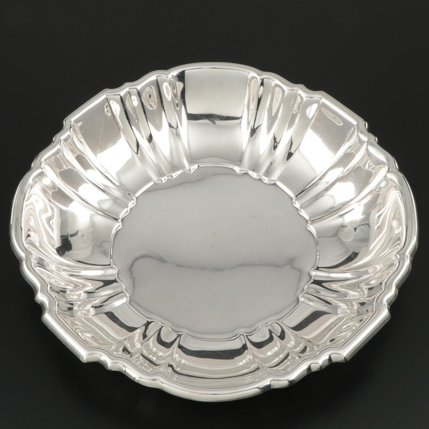 """Poole Silver Company  """"Old English"""" Sterling Silver Bowl, Mid to Late 20th C."""