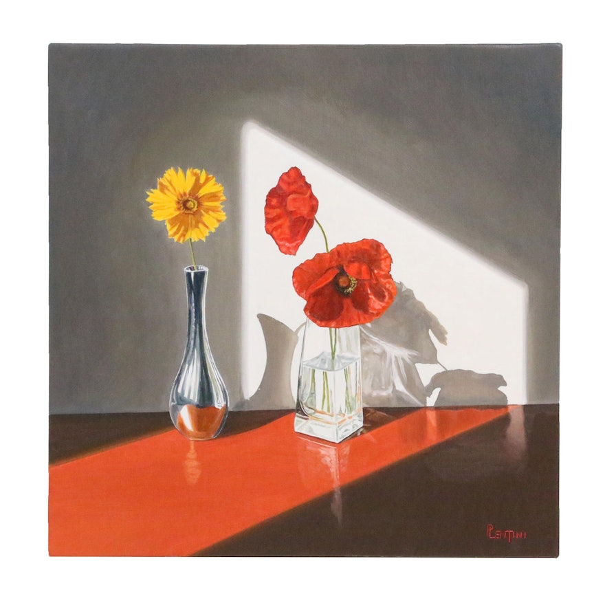 "Peter Lentini Still Life Oil Painting ""Schivo"""