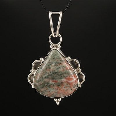 Sterling Silver Jasper Pendant