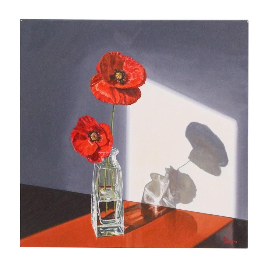 "Peter Lentini Still Life Oil Painting ""Sopra"""