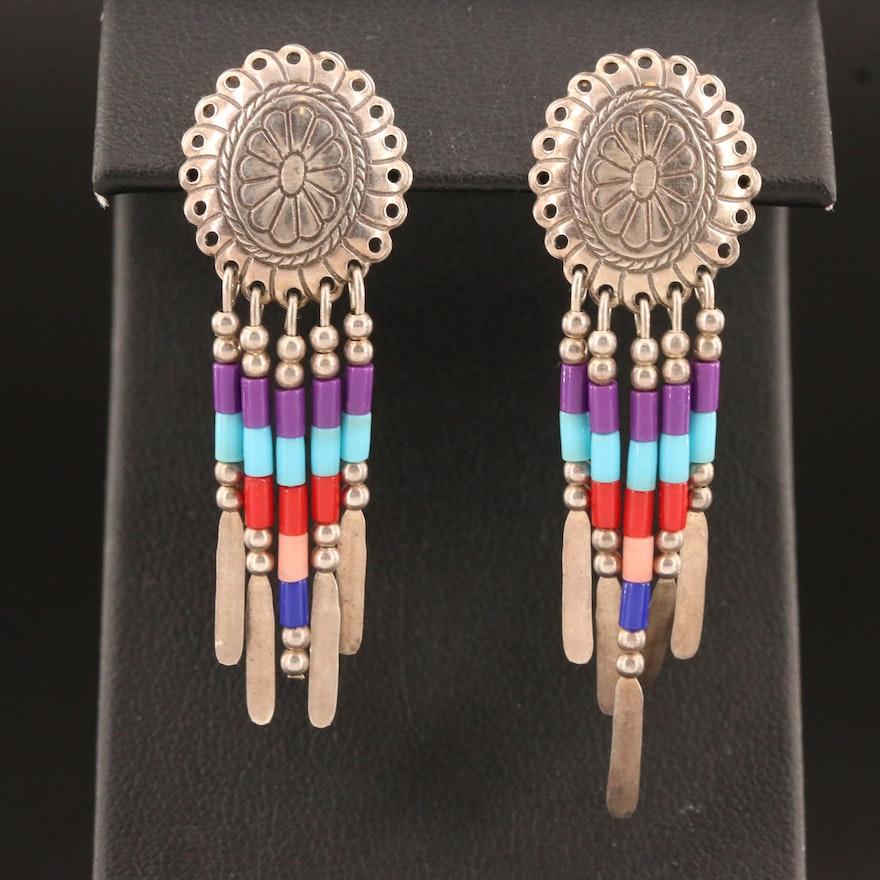 Western Sterling Silver Fringe Earrings