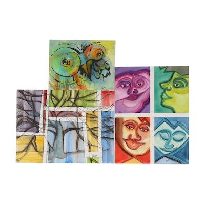 Phiris Kathryn Sickels Abstract Watercolor Paintings