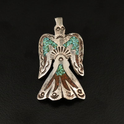 Western Sterling Silver Thunderbird Pendant