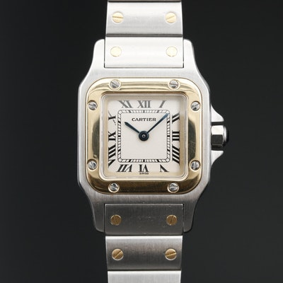 Cartier Santos Galbee 18K and Stainless Steel Quartz Wristwatch