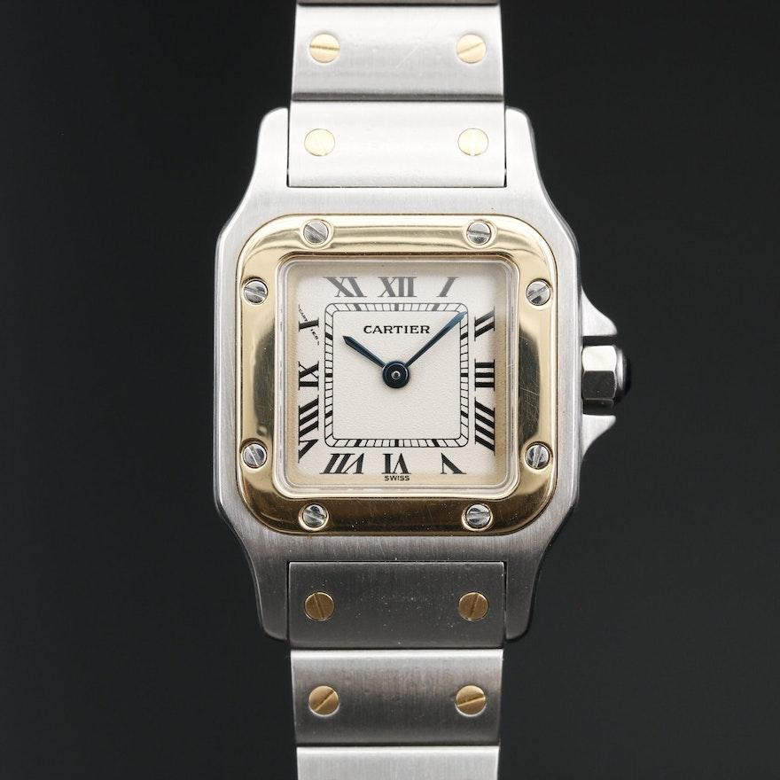 Cartier Santos Galbee 18K and Stainless Steel Quartz Wristwatch