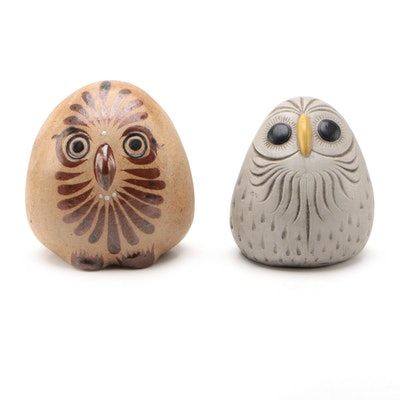 Owl Figurines, Mid to Late 20th Century